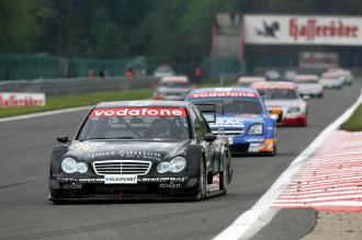 Hakkinen, en una carrera del DTM.