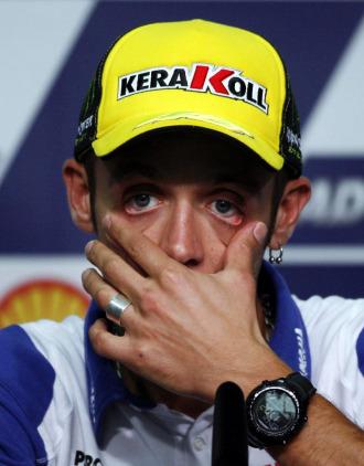 Valentino Rossi, en rueda de prensa en Malasia.