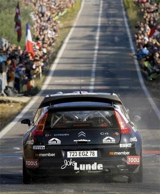 Petter Solberg durante el Rally de Catalu�a