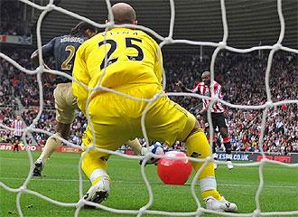 Partido entre el Sunderland y el Liverpool.