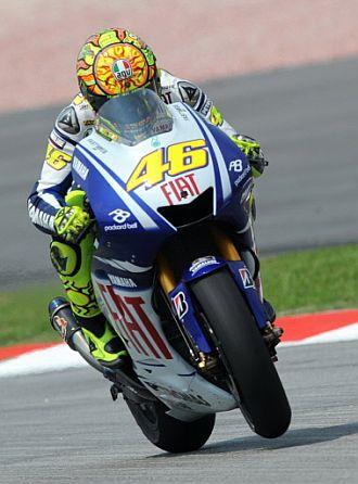 Valentino Rossi rodó siempre por debajo de 2.01