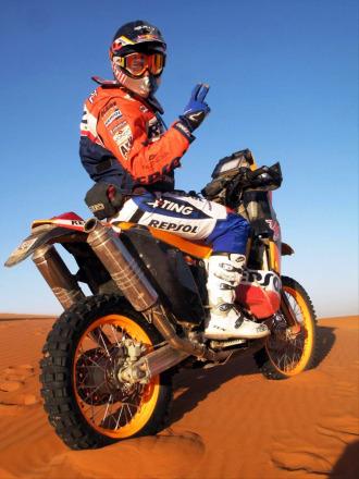 Marc Coma, a los mandos de su KTM.