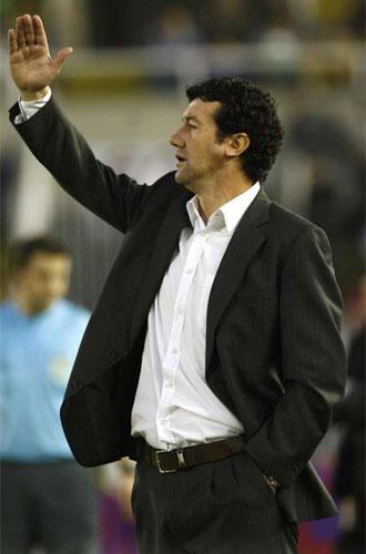 Juan Carlos Mandía, en un momento del partido.