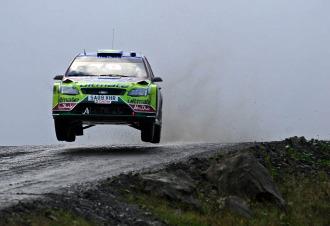 Mikko Hirvonen, en un momento del rally de Gran Breta�a.