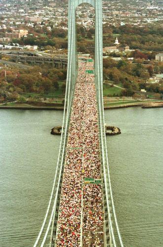 Miles de corredores, en el maratón de Nueva York