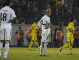 Guti, tras uno de los goles que el Real Madrid encajó el martes en Alcorcón.