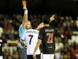 Villa, expulsado contra el Slavia