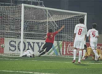 Borja marca el segundo gol de España ante EAU.