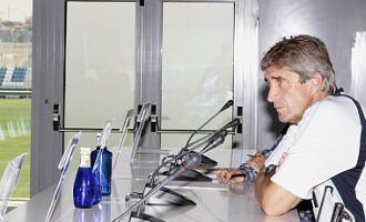 Manuel Pellegrini, durante la rueda de prensa de este viernes en Valdebebas.