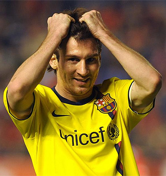 Messi se tira de los pelos tras el empate en el �ltimo minuto.