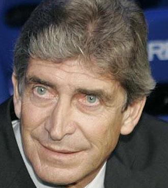 Pellegrini, en el partido frente al Getafe.