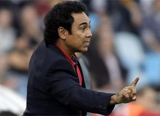 Hugo Sánchez durante el partido