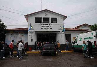 Hospital Ram�n Carrillo de la localidad de Ciudadela, donde se encuentra ingresado el ex jugador.