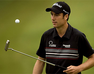 Ross Fisher, durante la final del Mundial Match Play