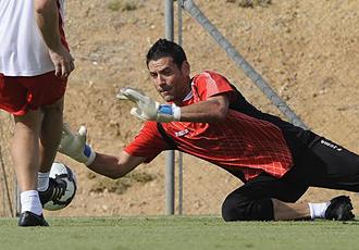 Andrés Palop durante un entrenamiento