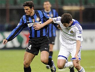 Una imagen del Inter-Dinamo de la primera vuelta.