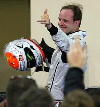 Barrichello tras el G.P. de Abu Dhabi