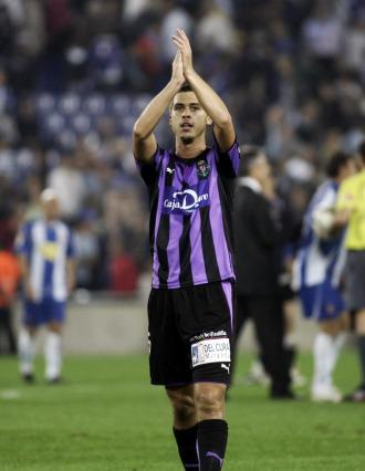 Medunjanin, en un partido con el Valladolid.