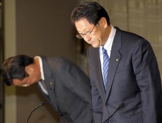 Akio Toyota, presidente de Toyota Motors, y Tadashi Yamashina, jefe del equipo de F�rmula 1