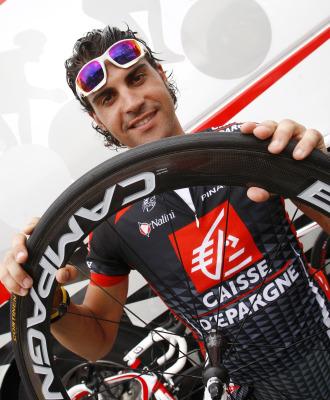 Óscar Pereiro, durante el pasado Tour