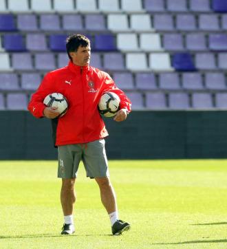 El entrenador del Valladolid, José Luis Mendilibar