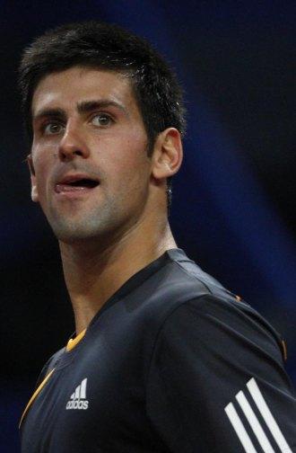 Novak Djokovic durante un partido en Basilea.