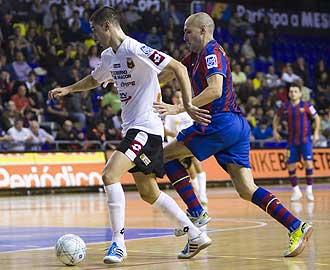 Una imagen del partido del Palau entre el Barcelona y Sala 10 Zaragoza.
