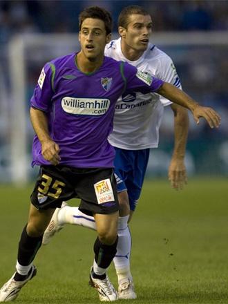 Javi López logró el tanto del empate para el Málaga