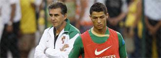 Queiroz y Cristiano Ronaldo