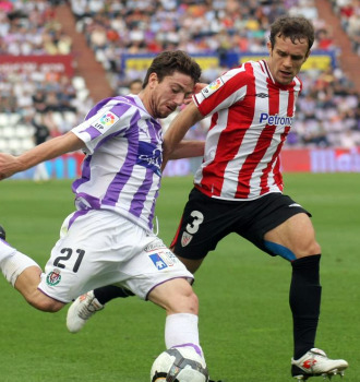 Sisi, en el último partido que jugó con el Valladolid.