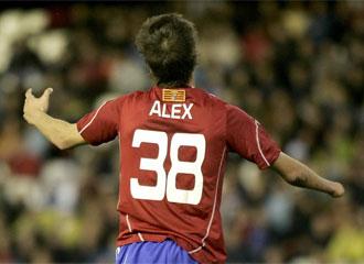 Álex Sánchez, el día de su debut en Primera.