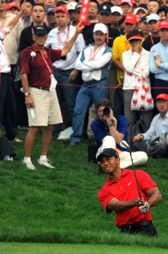 Tiger Woods en el pasado HSBC Champions de Shanghai.