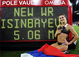 Isinbayeva celebra su �ltimo r�cord del mundo