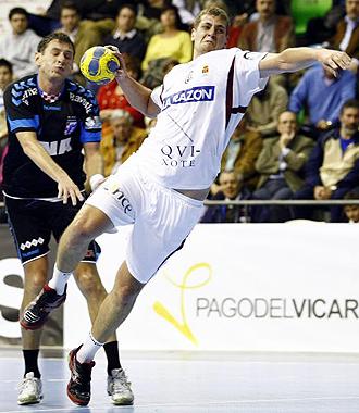 Egor Evdokimov realiza un lanzamiento en el choque ante el Croacia de Zagreb.