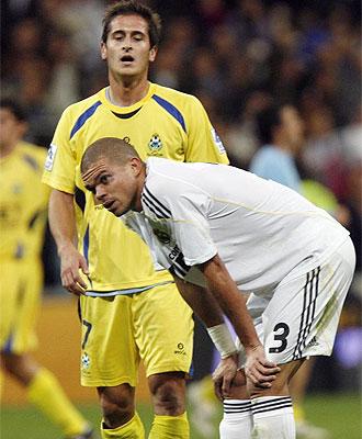 Pepe, desolado tras el pitido final.