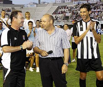 El presidente Francisco Rubio, el entrenador Juan Ignacio Martínez y el capitán Mariano Sánchez lideran el proyecto de un Cartagena que está sorprendiendo a propios y extraños