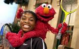 Venus Williams con Elmo