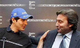 Senna y Campos, durante la presentación del primero.