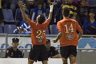 Danilo celebra su tanto ante el Tenerife