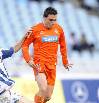 Adri�n Colunga, jugador del Recreativo de Huelva