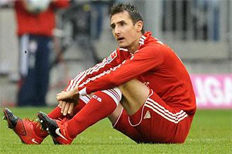 Klose, en un partido con el Bayern