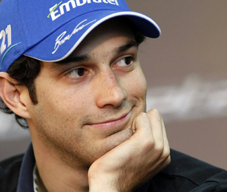 Bruno Senna, durante su presentaci�n.
