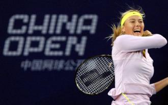 María Sharapova durante el pasado torneo de Pekín.