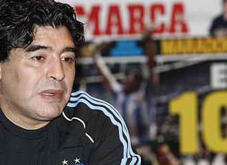 Maradona, durante la entrevista exclusiva con MARCA