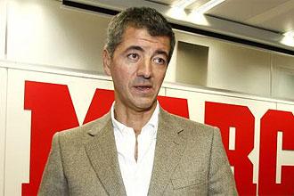 Miguel Ángel Gil Marín, durante una visita a la redacción del diario MARCA.