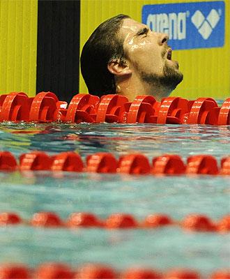 Phelps, después de terminar quinto.