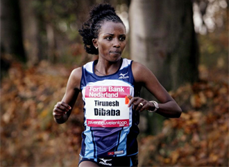 La campeona ol�mpica Tirunesh Dibaba