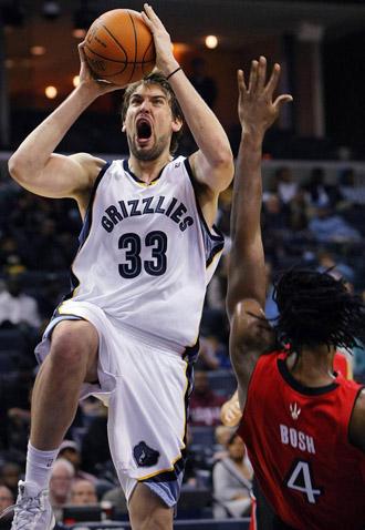 Marc Gasol, en un choque de los Grizzlies.