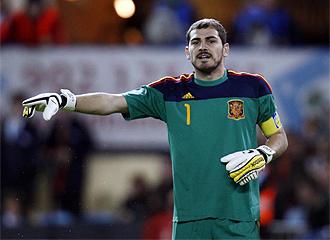 Casillas, en el partido contra Argentina.