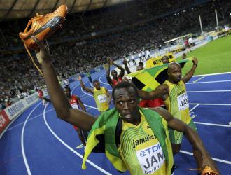Usain Bolt, en los Mundiales de Berl�n